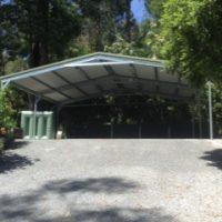 Large gable carport
